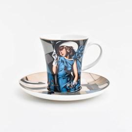 Espresso Cup and Saucer | Tamara de Lempicka