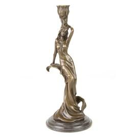 Bronze Candlestick / Sculpture Carmen