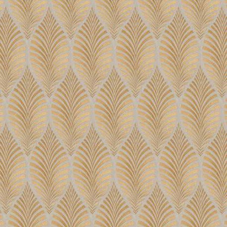 Linen Curtain fabric Deilen Gold
