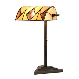 Tiffany Banker Table Lamp Parabola
