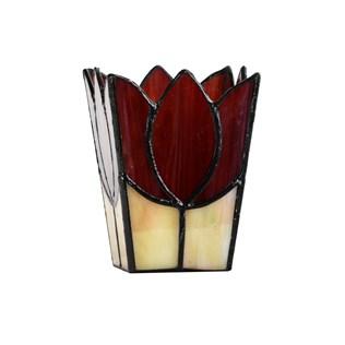 voorbeeld van een van onze Candlesticks Silver-Tin-Glass