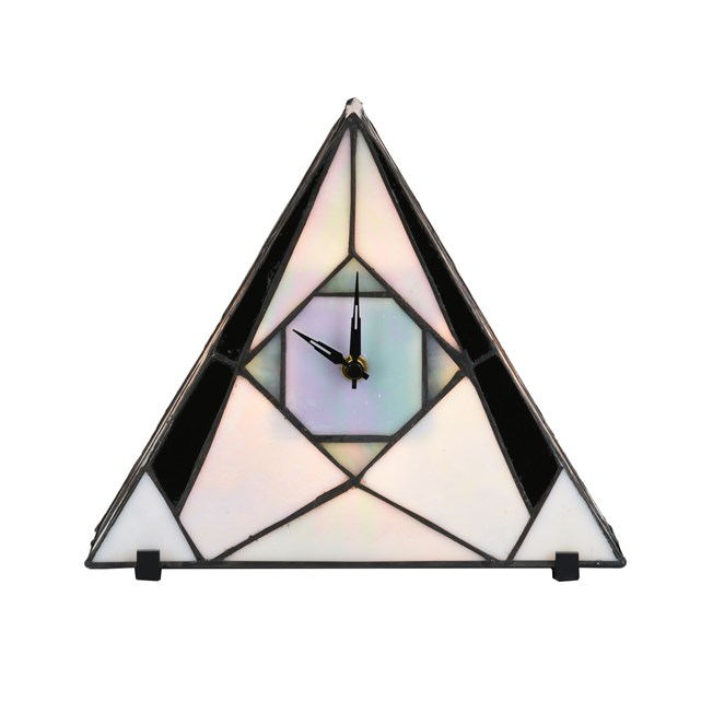 Tiffany Clock / Table Lamp French Art Deco