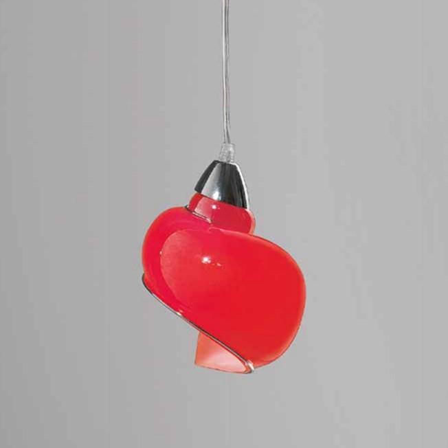 Venetian Hanging Lamp Swirl   Red