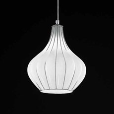 Venetian Hanging Lamp Drop | Opal White