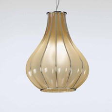 Venetian Hanging Lamp Drop | Amber Yellow