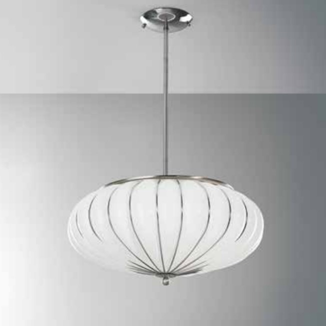 Venetian Hanging Lamp Genova Opal White