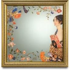Mirror Lady with Fan   Klimt