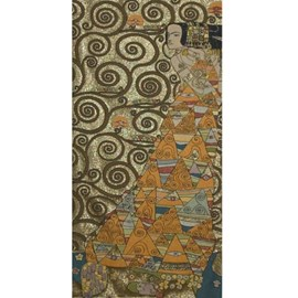 Tapestry Klimt The Expectation Gold