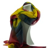 Silk Scarf Batik Yellow
