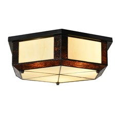 Tiffany Ceiling Lamp Geometric
