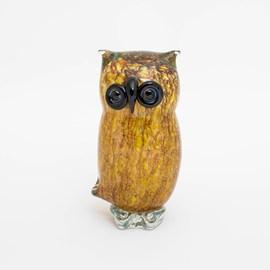 Glass Sculpture Owl