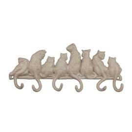Cast iron coat rack cats