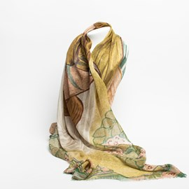 Silk Scarf Lady with Doves