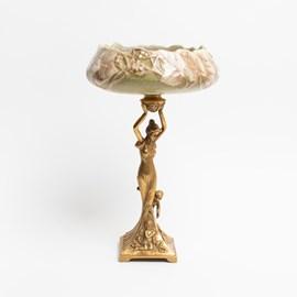 Porcelain sculpture with bowl