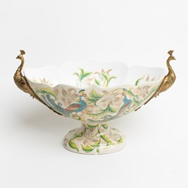 Porcelain Showpiece with Peacocks