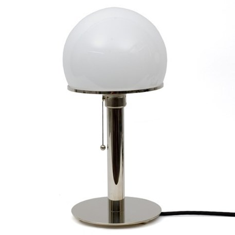 Desktable lamp bauhaus wagenfeld in 4 editions desktable lamp bauhaus wagenfeld with nickel foot and nickel leg aloadofball Gallery