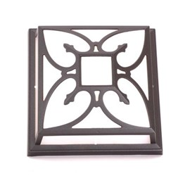 Outdoor Lamp Square with Flower-shaped Bars