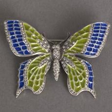 Enamel Butterfly Brilliance Brooch