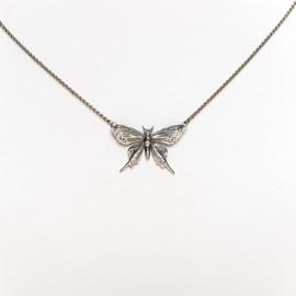 Silver Butterfly Yasmin Necklace