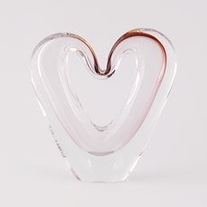 Glass Love Heart Sculpture