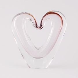 Glass Love Heart Sculpture