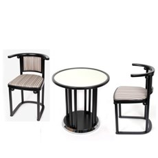 Original Set Fledermaus/ Coffee Table and 2 Chairs