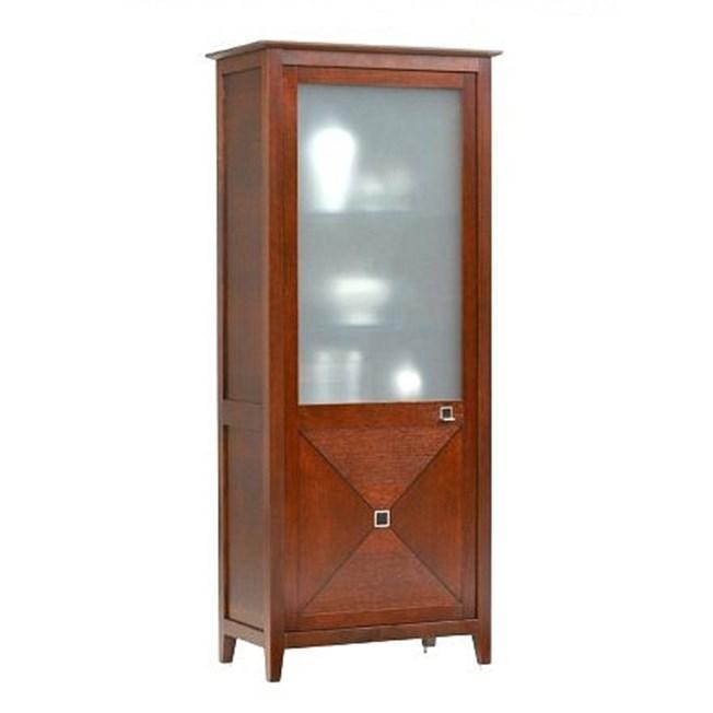 Art Deco Display Case Cubic 1 Door