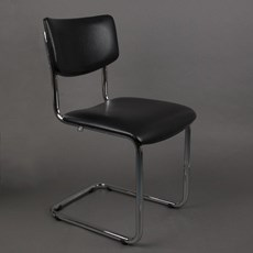 Bold Chrome Tube Chair Basic without Armrests