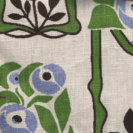 Curtain Fabric Rose Mackintosh Large