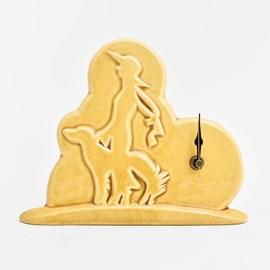 Clock Lady and Dog