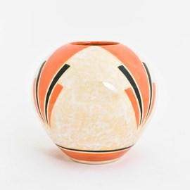 Art Deco Ceramic Vase Cheerful