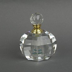 Perfume Bottle Faceted Round
