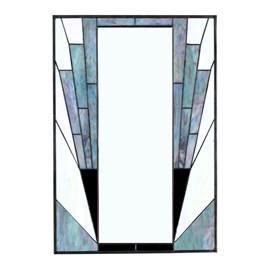 French Art Deco Mirror Blue