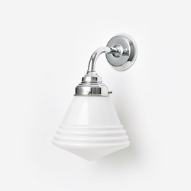Wall lamp School de Luxe Small Curve Chrome
