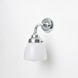 Wall lamp School Globe Curve Chrome