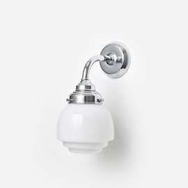 Wall lamp Deco Vlak Curve Chrome