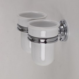 Holder with 2 Porcelain Cups