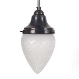 Elliptical Hanging Lamp Elegance Etched