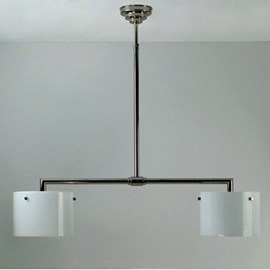 T-Hanging Lamp Rectangular with 2 Open Cylinders