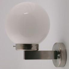 Outdoor Wall Lamp Stainless Steel Globe Unbreakable