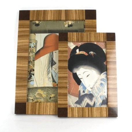 3 Wooden Zebrano Picture Frames