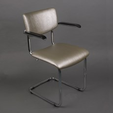 Bold Chrome Tube Chair Basic with Armrests