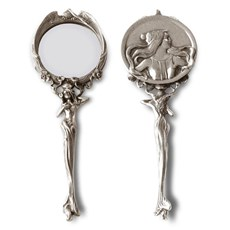 Art Nouveau Hand Mirror / Picture Frame Ancient