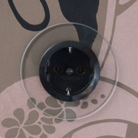 Wall Socket Glass Black or White