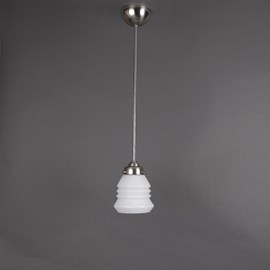 Hanging Lamp Open Glass Shade Accordeon