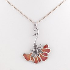 Necklace Ginkgo Orange