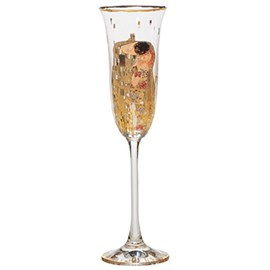 Festive Glass with The Kiss