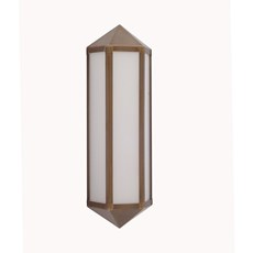 Wall Lamp 3 sides bronze opaline LED