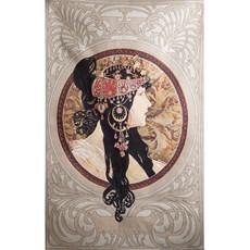 Tapestry Mucha - The Brunette