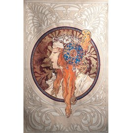 Tapestry Mucha - The Blonde